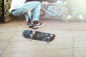 tabla skate decoracion estanteria
