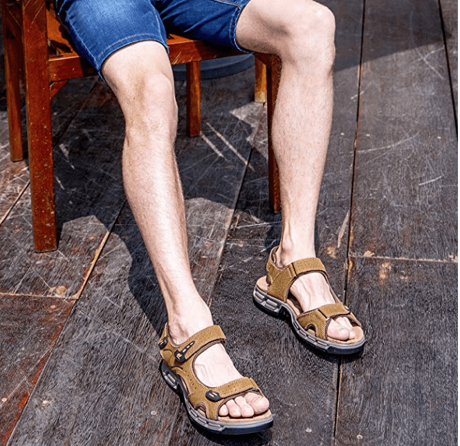 sandalias comodas para viajar hombre